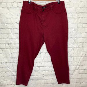 d. jeans rusty red cropped skinny jeans
